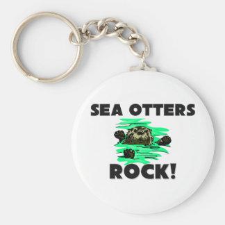 Sea Otters Rock Keychains