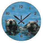 Sea Otters Round Wallclocks