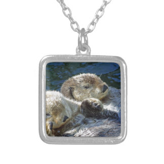 Sea-otters Silver Plated Necklace