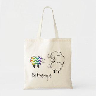 Sea ovejas del arco iris de Ewenique Bolsa Tela Barata