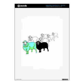 Sea ovejas originales del Aquamarine iPad 3 Pegatina Skin