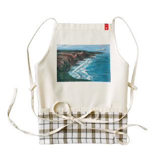 Sea painting zazzle HEART apron