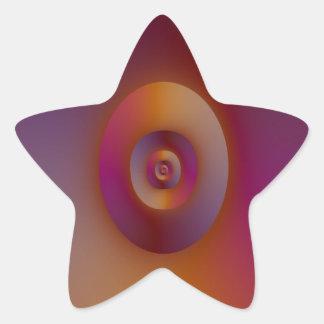 Sea palillo calentado pegatina en forma de estrella
