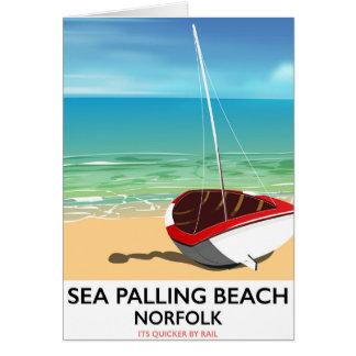 Sea Palling Beach Norfolk beach poster Card