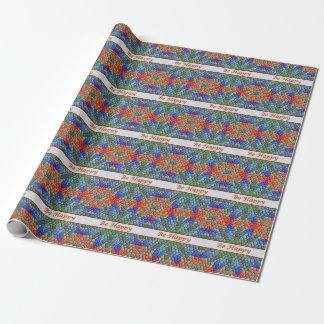 Sea papel de embalaje colorido feliz del mosaico