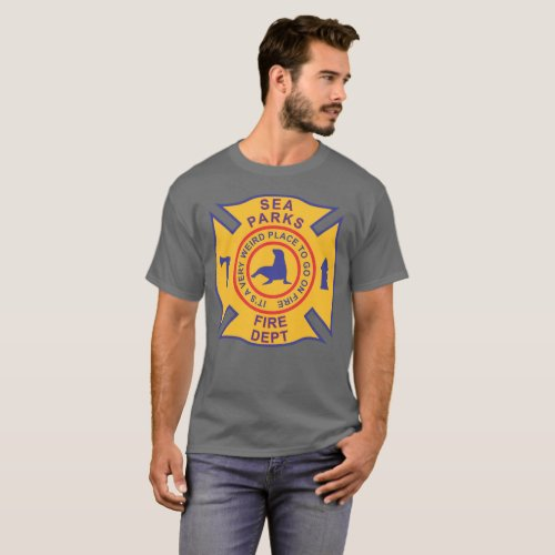 Sea Parks Fire Department dark grey T_Shirt