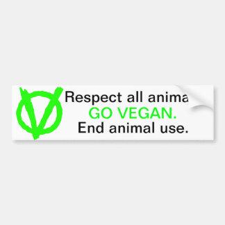 ¡Sea parte de la revolución del vegano! Pegatina Para Auto