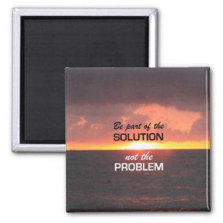 Sea parte de la solución iman de frigorífico