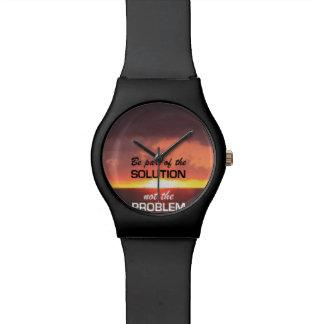 Sea parte de la solución relojes de pulsera