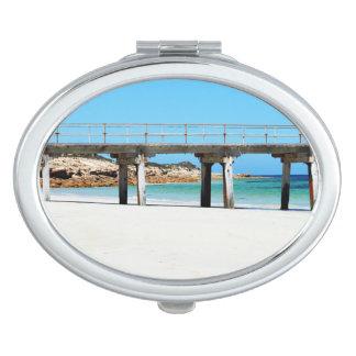 Sea_Passages, _Ladies_Oval_Compact-Mirror. Espejo De Maquillaje