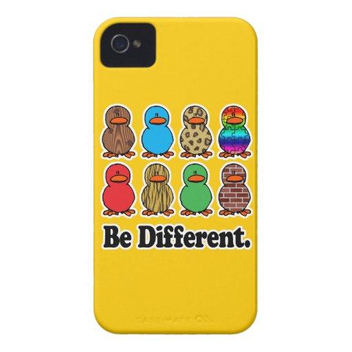 sea patos ducky de diverso modelo divertido Case-Mate iPhone 4 cobertura