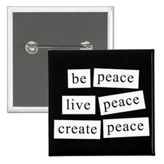 Sea paz pin cuadrado
