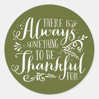 Sea pegatina agradecido de la acción de gracias