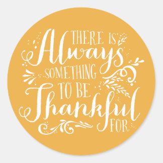 Sea pegatina agradecido de la acción de gracias de