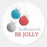 Sea pegatina alegre del día de fiesta del ornament
