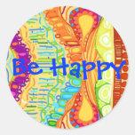 Sea pegatina feliz