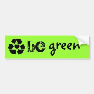 sea pegatina verde pegatina de parachoque