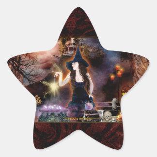 Sea pegatinas mágicos de la estrella de la bruja calcomanías forma de estrella personalizadas