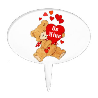 Sea peluche de la tarjeta del día de San Valentín  Figuras Para Tartas