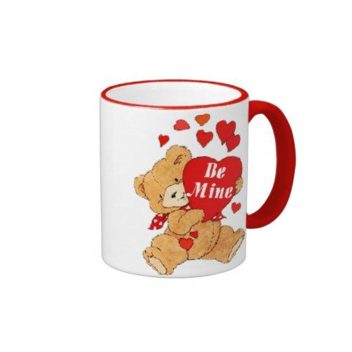 Sea peluche de la tarjeta del día de San Valentín  Taza De Café
