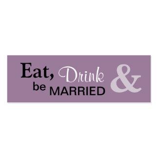 Sea pequeña etiqueta casada del favor - lila tarjetas de visita mini