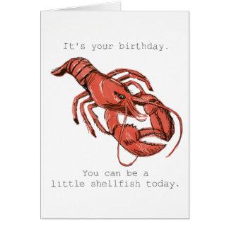 Sea pequeños crustáceos en su tarjeta de