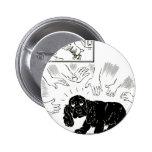 Sea perritos cuidadosos del W., vintage Pins
