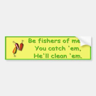 Sea pescadores de los hombres - pegatina para el p etiqueta de parachoque