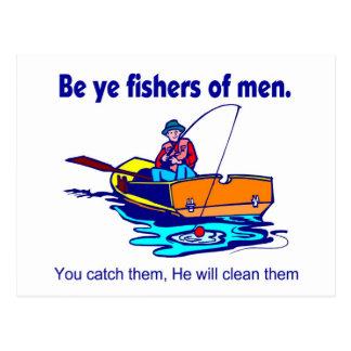 Sea pescadores de YE de hombres Postal