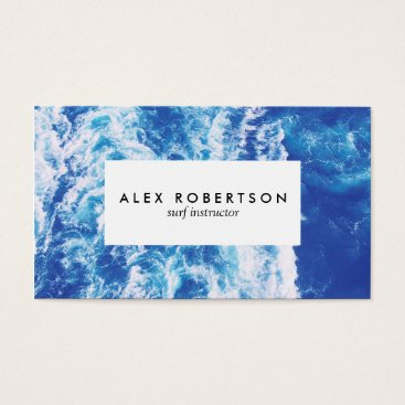 Professional Business Sea photograph surf instructor business cards