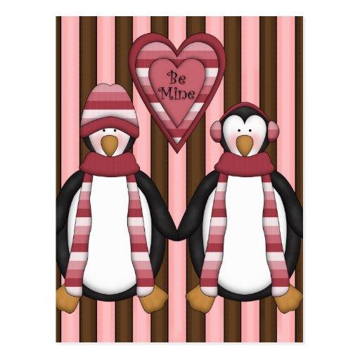 Sea pingüinos de la mina - modificados para tarjetas postales