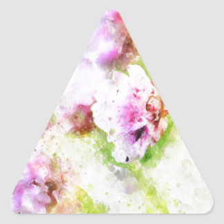 Sea Pink Flower Triangle Sticker