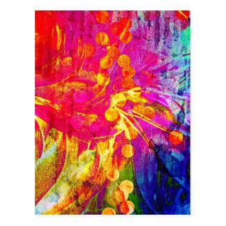 Sea pintura floral del extracto intrépido, postal