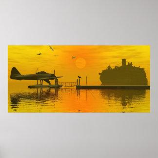 Sea Plane and The Ship Print