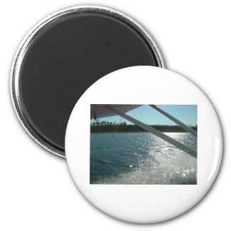 sea plane landing refrigerator magnet