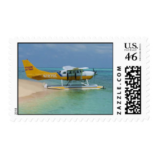Sea Plane Lands in Key West Postage Stamps