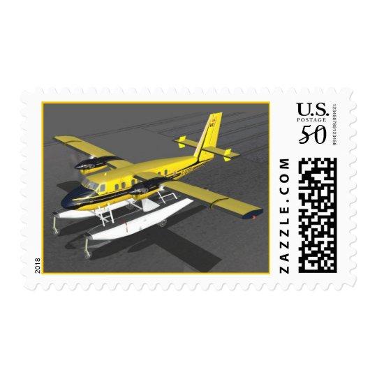 Sea Plane on Stamp