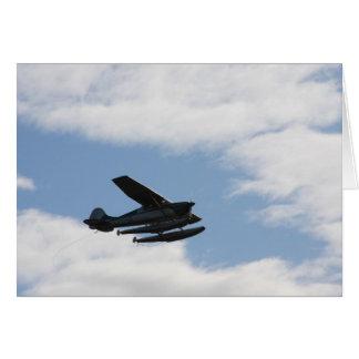 Sea Plane Sillhouette Card