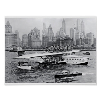 Sea Plane Visits the Big Apple Print