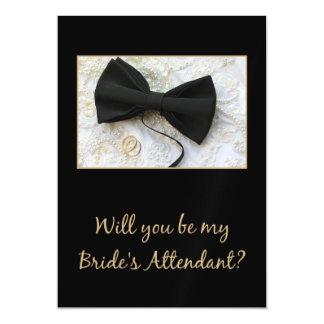 Sea por favor el asistente de la novia - invitaciones magnéticas