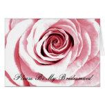 Sea por favor mi rosa nupcial de la dama de honor felicitacion