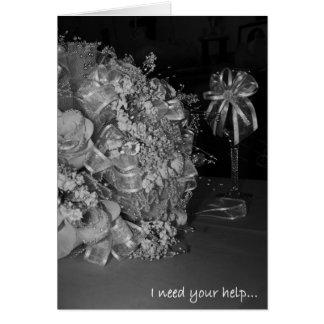 Sea por favor mi tarjeta de la invitación del flor