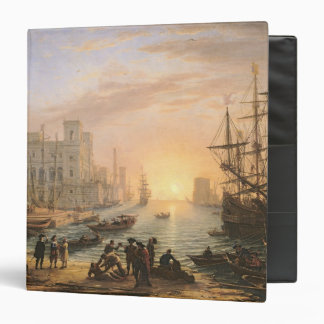 Sea Port at Sunset, 1639 3 Ring Binders
