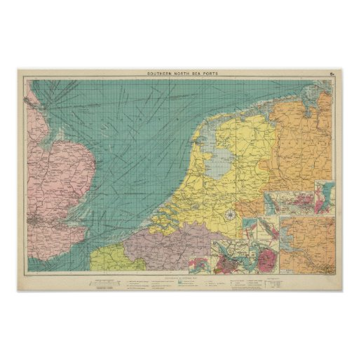 Sea ports of England Poster