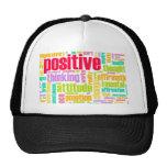 ¡Sea positivo! ¡Permanezca positivo! Gorros Bordados