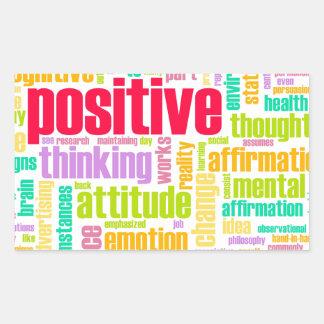 ¡Sea positivo! ¡Permanezca positivo! Pegatina Rectangular