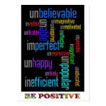 Sea positivo postales