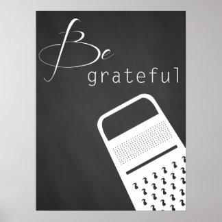 Sea poster agradecido