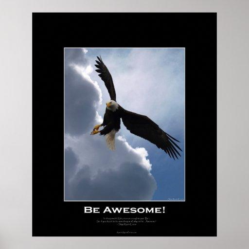 SEA poster de motivación calvo de Eagle del vuelo