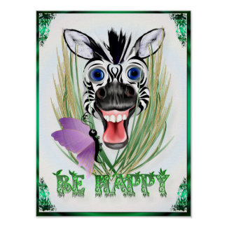 Sea poster feliz póster
